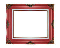 Classic wooden frame isolated on white background Royalty Free Stock Photos