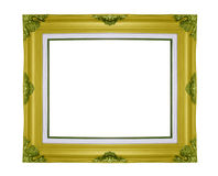Classic wooden frame isolated on white background Stock Images