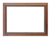 Classic wooden frame isolated on white background Stock Image