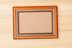 Classic wooden frame Royalty Free Stock Images