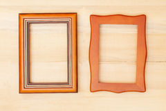 Classic wooden frame Stock Photo
