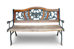 Classic wooden long chair Royalty Free Stock Photos