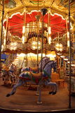 Classic wooden merry-go-round royalty free stock photo