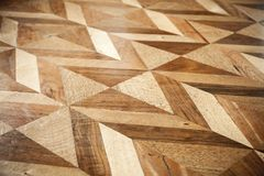 Classic wooden parquet flooring design Stock Images