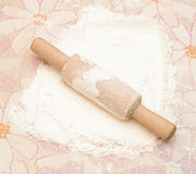 Classic wooden rolling pin Stock Photography