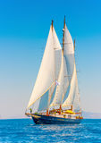 Classic wooden sailing boat Royalty Free Stock Image