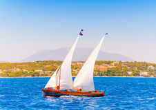 Classic wooden sailing boat Royalty Free Stock Photography