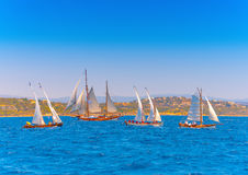 Classic wooden sailing boats Stock Image