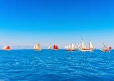 Classic wooden sailing boats Stock Photography