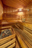 Classic wooden sauna Royalty Free Stock Photography