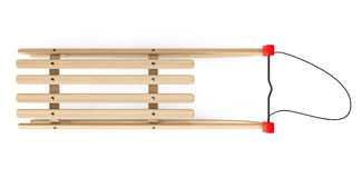 Classic Wooden Sled. On a white background Royalty Free Stock Image