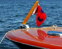 Classic Wooden Speed Boat 3 Stock Image