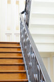 Classic wooden stairs Royalty Free Stock Photo