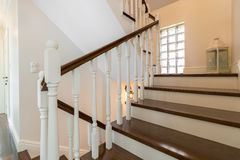 Classic wooden stairs Royalty Free Stock Images