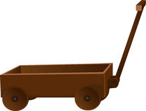 Classic wooden truck for toys Royalty Free Stock Images