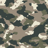Classic woodland seamless camo. Pattern Royalty Free Stock Photos