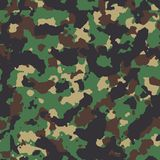 Classic woodland seamless camo pattern Stock Photography