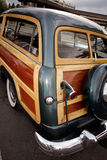 Classic woody station wagon. Royalty Free Stock Photos