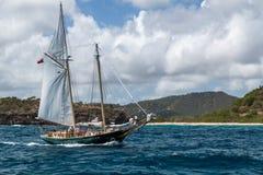 Classic yacht near Windward Bay Beach #2 stock photos