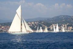 Classic yacht regatta Royalty Free Stock Photography