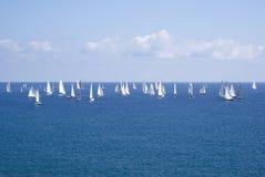 Classic yacht regatta Stock Photos