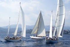 Classic yacht regatta Stock Image
