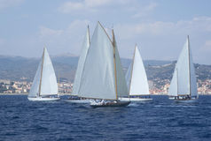 Classic yacht regatta Royalty Free Stock Images