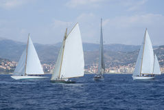 Classic yacht regatta Stock Photos