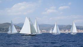 Classic yacht regatta Stock Photo