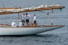 Classic yacht regatta royalty free stock photo