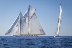 Classic Yacht Regatta - Shooner ELENA / Gaff Cutter MOONBEAM IV Stock Images