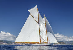 Classic Yacht Regatta - Shooner ELENA Stock Photography