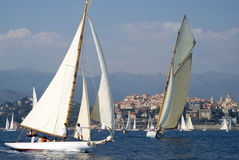 Classic yacht regatta Stock Photo