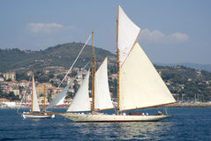 Classic yacht regatta Royalty Free Stock Photo