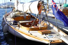 Classic Yacht in Saint Tropez, France Royalty Free Stock Images