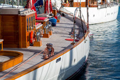 Classic yachts moored in Falmouth Stock Photos