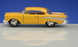 Classic Yellow Car Model Stock Photos