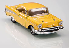 Classic Yellow Car Model Royalty Free Stock Images