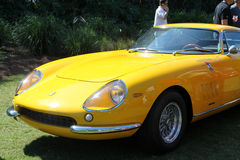 Classic yellow Ferrari sports car nose Stock Photos