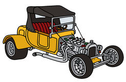 Classic yellow hot rod Royalty Free Stock Images