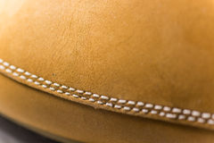 Classic Yellow Leather Shoes, Genuine. Unique Style, Royalty Free Stock Photo