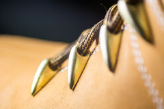 Classic Yellow Leather Shoes, Genuine. Unique Style, Royalty Free Stock Image