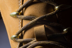 Classic Yellow Leather Shoes, Genuine. Unique Style, Royalty Free Stock Images