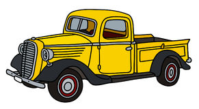 Classic yellow pick-up Royalty Free Stock Image