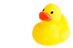 Classic yellow plastic duck Royalty Free Stock Images
