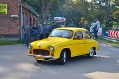 Classic Yellow Polish Car Royalty Free Stock Photos