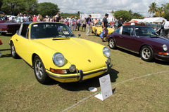 Classic yellow Porche targa at boca raton resort Stock Images