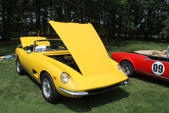 Classic yellow sports car convertible Royalty Free Stock Image