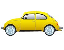 Classic Yellow VW Beetle Royalty Free Stock Photos
