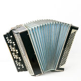 Classical accordion. Isolated on white background royalty free stock photo